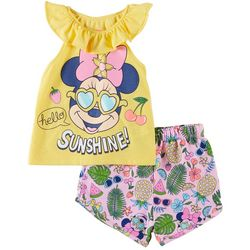 Disney Minnie Mouse Baby Girls Hello Sunshine Shorts Set