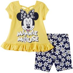Disney Minnie Mouse Baby Girls Daisy Ruffle Shorts Set