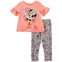 Disney Minnie Mouse Baby Girls Bows Leggings Set