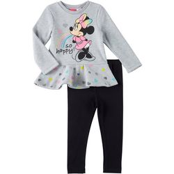 Disney Minnie Mouse Baby Girls So Happy Fleece Pants Set