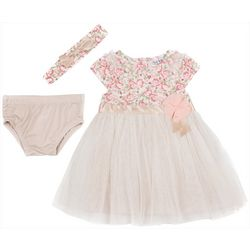 Nicole Miller New York Baby Girls Floral Tulle