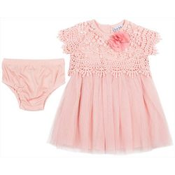 Nicole Miller New York Baby Girls Lace Tulle Dress Set