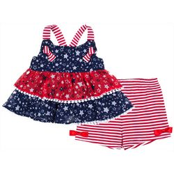 Little Lass Baby Girls Americana Short Set