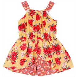 Little Lass Baby Girls Mixed Floral Romper