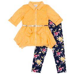 Little Lass Baby Girls 2-pc. Floral Leggings Set