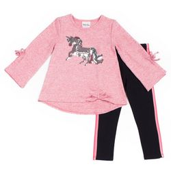 Little Lass Baby Girls 2-pc. Unicorn Leggings Set