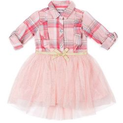 Little Lass Baby Girls Plaid Tulle Dress