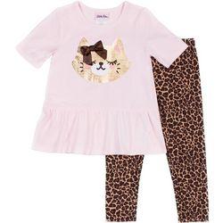 Little Lass Baby Girls Leopard Print Cat Leggings