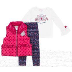 Little Lass Baby Girls 3-pc. Enjoy The Adventure Vest Set