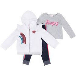 Little Lass Baby Girls 3-pc. Sequin Rainbow Jacket Set