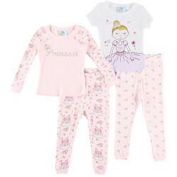 Quiltex Baby Girls 4-pc. Ballerina Princess Pajama Set