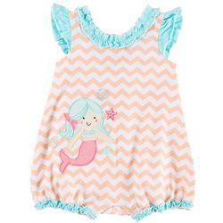 Sunshine Baby Baby Girls Chevron Mermaid Ruffle Romper