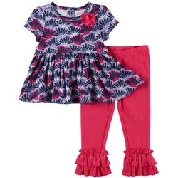 Sunshine Baby Baby Girls Seashell Ruffle Pants Set