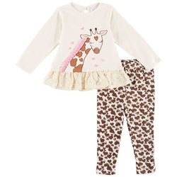 Sunshine Baby Baby Girls Giraffe Leggings Set