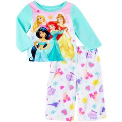 Disney Baby Girls Long Sleeve Fleece Princess Pajama Set