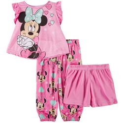 Disney Minnie Mouse Baby Girls 3-pc. Heart Minnie Shorts Set