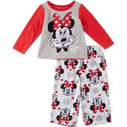 Disney Minnie Mouse Baby Girls 2-pc. Fleece Sleepwear
