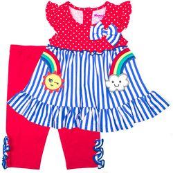 Nannette Baby Girls Stripe Rainbow Leggings Set