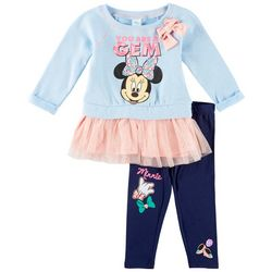 Disney Minnie Mouse Baby Girls You Are A Gem Leggings Set