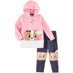 Nannette Baby Girls Floppy Ear Dog Hoodie Leggings Set