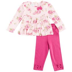 Laura Ashley Baby Girls Floral Ruffled Leggings Set