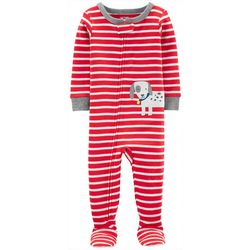 Carters Baby Boys Striped Dog Snug Fit Footie Pajamas