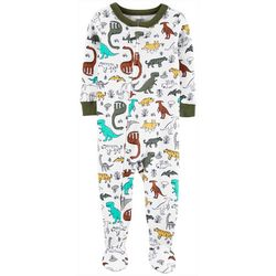 Carters Baby Boys Multi Dino Snug Fit Footie Pajamas