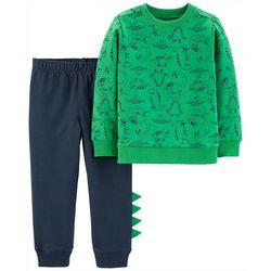 Carters Baby Boys Dinosaur Print Jogger Pants Set