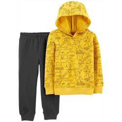 Carters Baby Boys Construction Hoodie & Jogger Pants