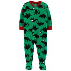 Carters Baby Boys Santa Hat Dinosaur Snug Fit Footie Pajamas