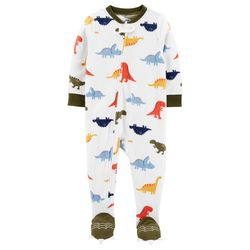 Carters Baby Boys Dinosaur Feet Snug Fit Footie Pajamas