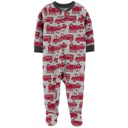 Carters Baby Boys Firetruck Snug Fit Footie Pajamas