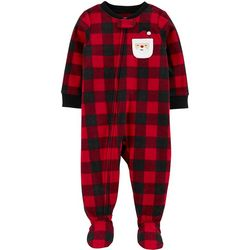 Carters Baby Boys Plaid Santa Snug Fit Footie Pajamas
