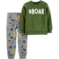 Carters Baby Boys 2-pc. Hashtag Roar Pants Set