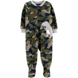 Carters Baby Boys Camo Dino Feet Snug Fit Footie Pajamas