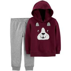 Carters Baby Boys Dog Hoodie & Jogger Pants