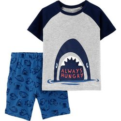 Carters Baby Boys Always Hungry Shark Shorts Set