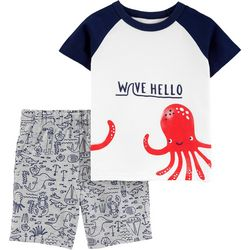 Carters Baby Boys Octopus Shorts Set