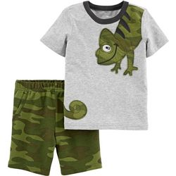 Carters Baby Boys Camo Chameleon Shorts Set