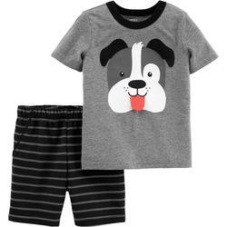 Carters Baby Boys Dog Stripe Shorts Set