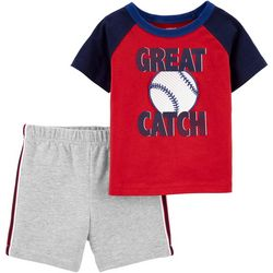Carters Baby Boys Great Catch Shorts Set