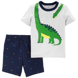 Carters Baby Boys Dinosaur Shorts Set