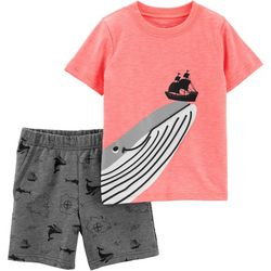 Carters Baby Boys Whale Shorts Set
