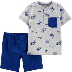 Carters Baby Boys T-Rex Beach Shorts Set