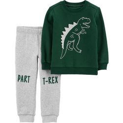 Carters Baby Boys Part T-Rex Sweater Jogger Pants Set