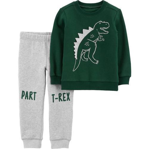 374604fb3 Carters Baby Boys Part T-Rex Sweater Jogger Pants Set