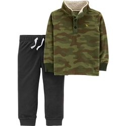 Carters Baby Boys Camo Fleece Jacket Pants Set
