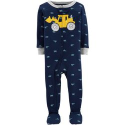 Carters Baby Boys Tractor Snug Fit Footie Pajamas