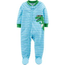 Carters Baby Boys Striped Dino Snug Fit Footie Pajamas