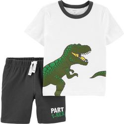 Carters Baby Boys Part T-Rex Shorts Set